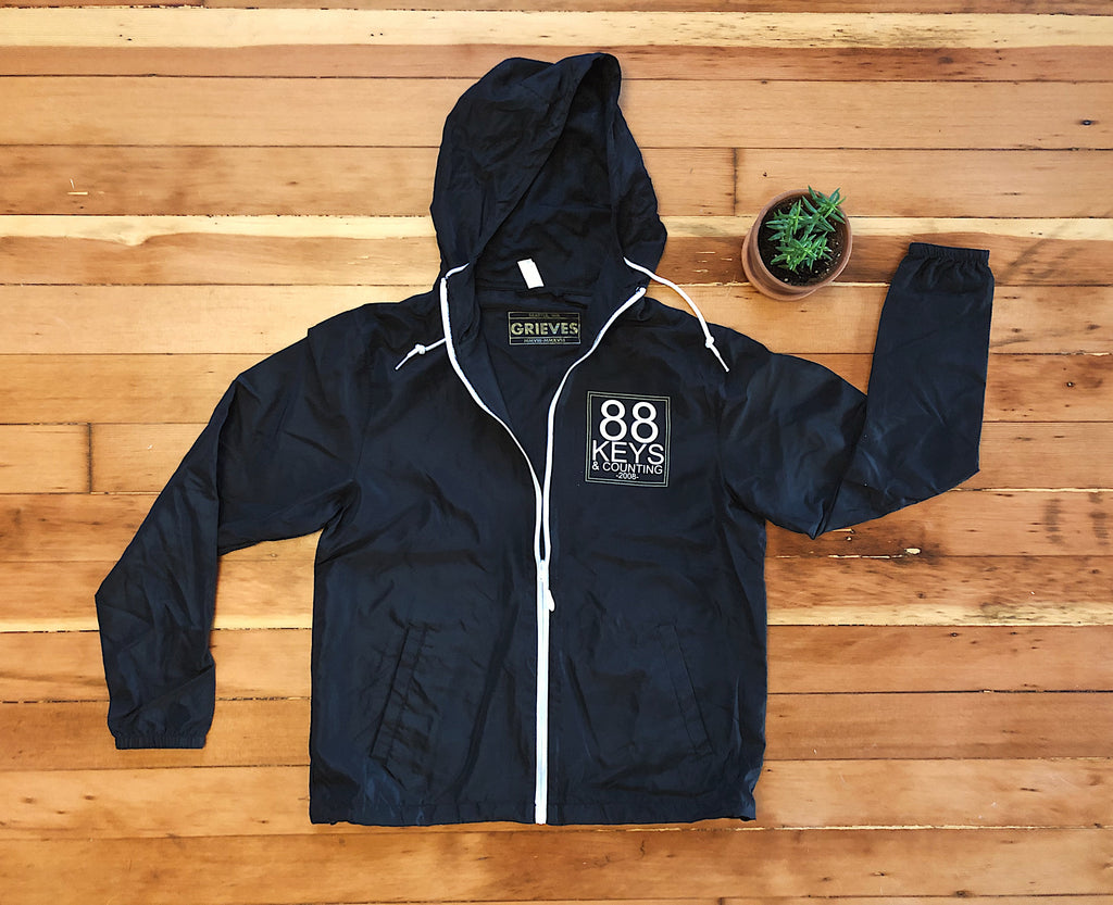 88 Keys and Counting LIMITED EDITION windbreaker for VINYL RELEASE