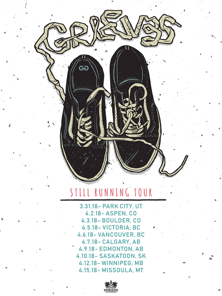 "Still Running Tour Poster 18"" X 24"""