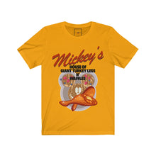 "Load image into Gallery viewer, | The USA Shop | ""House Of Giant Turkey Legs N' Waffles"" - Adult Crew Neck Tee"