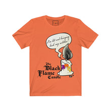 "Load image into Gallery viewer, | The USA Shop | ""The Black Flame Candle"" - Adult Crew Neck Tee"