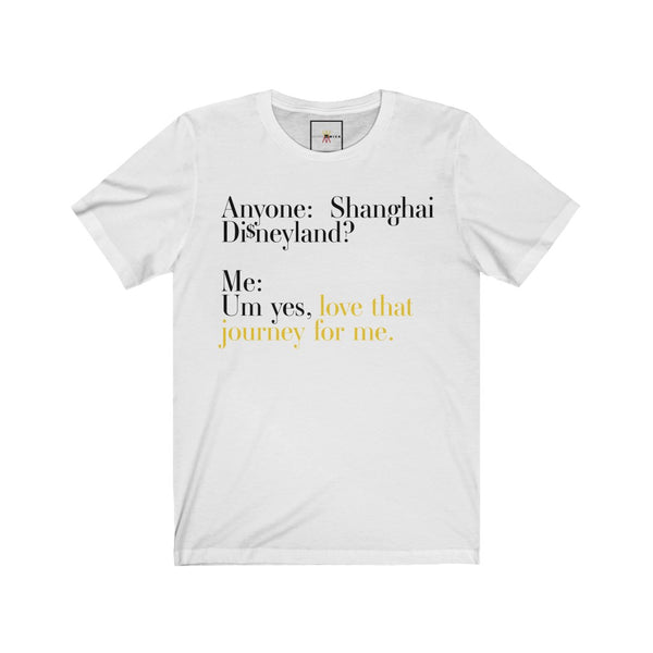 "| The USA Shop | ""Love That Journey For Me - Alexis Rose"" - Adult Crew Neck Tee - Shanghai Edition"
