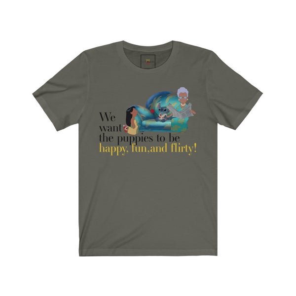 "| The USA Shop | ""The Puppies  - Alexis Rose"" - Adult Crew Neck Tee"