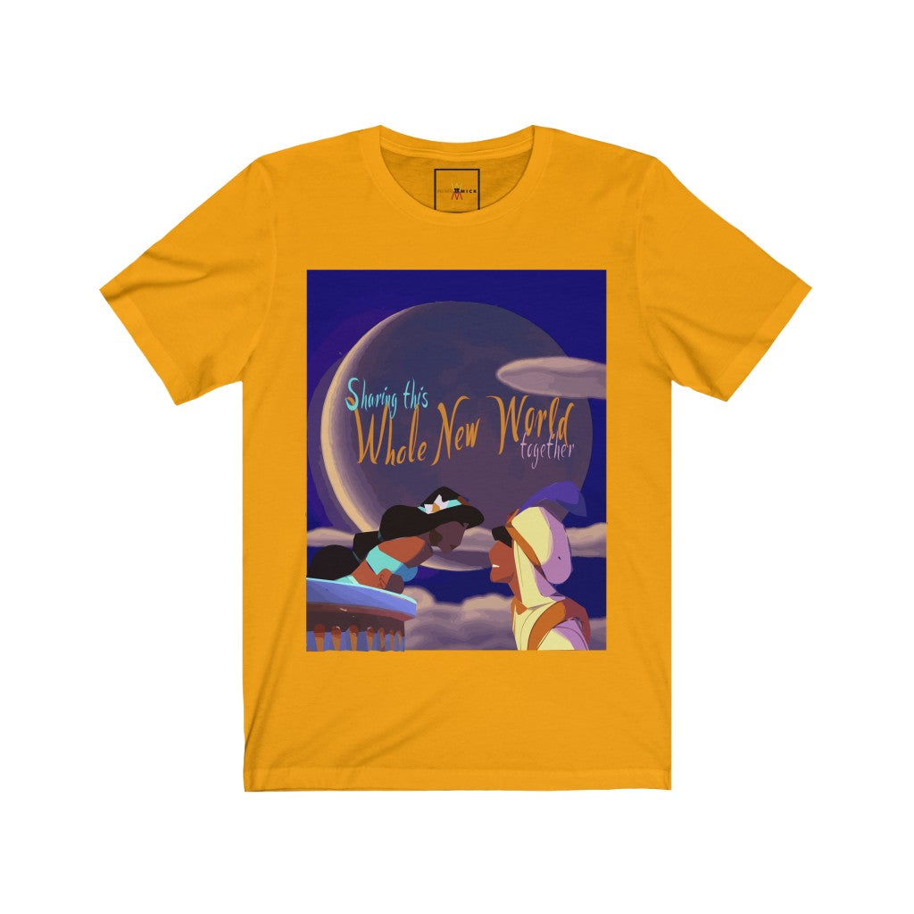 "| The USA Shop | ""A Whole New World"" - Adult Crew Neck Tee"