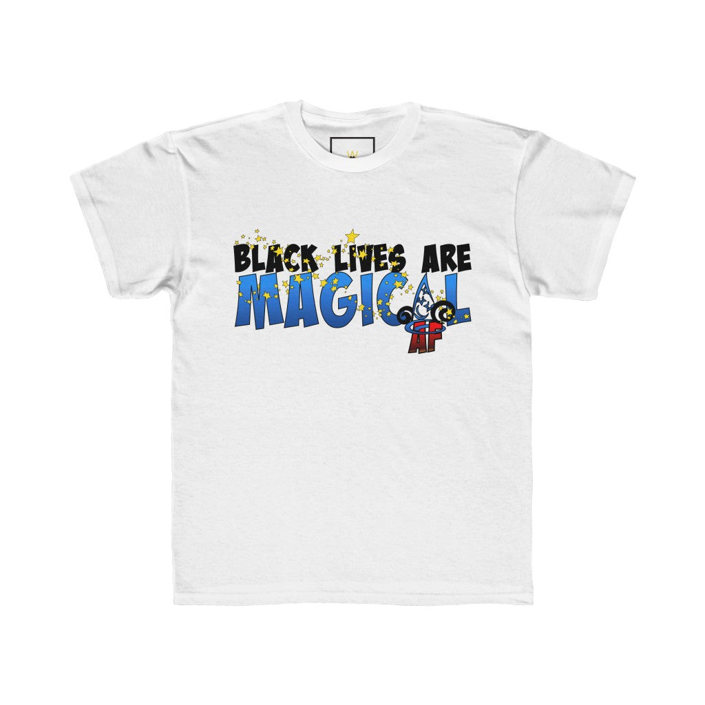"| The USA Shop | ""✨Black Lives Are Magical AF (AND FRESH!)✨"" - Youth Crew Neck Tee"