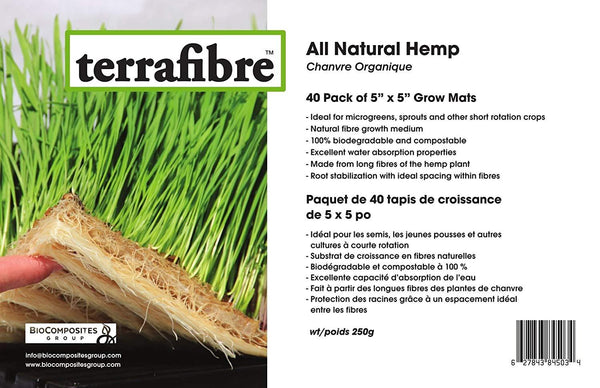 All Natural Hemp Grow Mats - Hemp Winnipeg