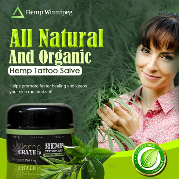 Hemp Tattoo Salve with Rosemary & Tea Tree - Hemp Winnipeg