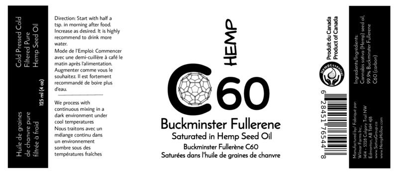 Hemp C60 Buckminster Fullerene in Hemp Seed Oil - Hemp Winnipeg