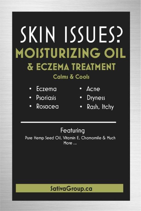 Moisturizing Oil & Eczema Treatment - Hemp Winnipeg