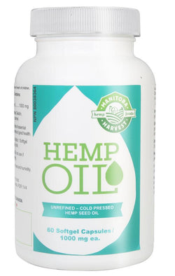 Hemp Oil Soft Gel Capsules - Hemp Winnipeg