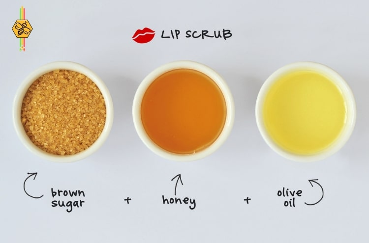 Homemade Honey & Sugar Lip Scrub