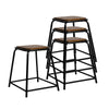 Artiss Set of 4 Pine Wood Bar Stools - Black