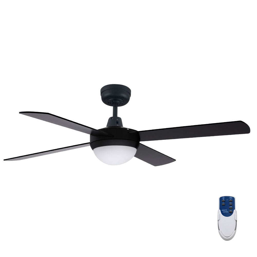 "Devanti 52"" Ceiling Fan - Black"