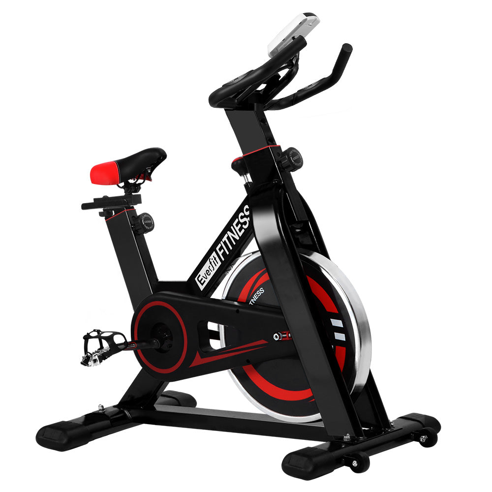 Everfit Spin Exercise Bike Cycling Fitness Commercial Home Workout Gym Black