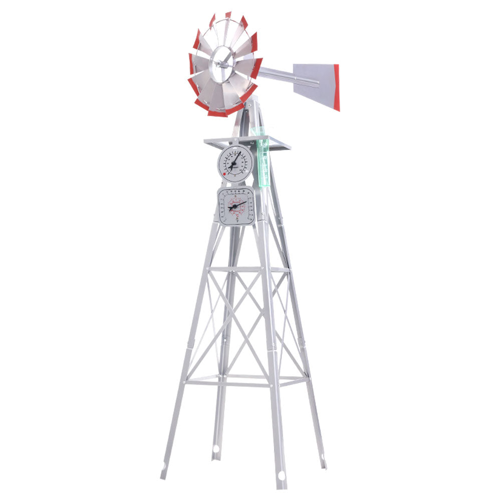 Garden Windmill 4FT 146cm Metal Ornaments Outdoor Decor Ornamental Wind Will