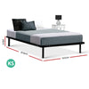 Artiss King Single Size Metal Bed Frame - Black