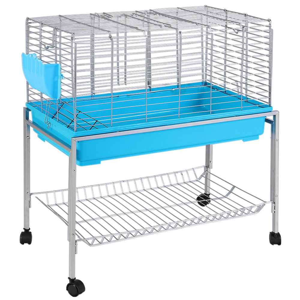 i.Pet Rabbit Cage Hutch Cages Indoor Hamster Enclosure Bunnings Carrier Bunny Blue
