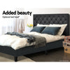 Artiss Bed Base Double Size Frame Fabric Charcoal