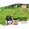 Giantz 8km Solar Electric Fence Energiser Charger with 400M Tape and 25pcs Insulators