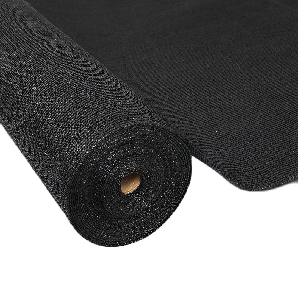 Instahut 50% UV Sun Shade Cloth Shadecloth Sail Roll Mesh Garden Outdoor 1.83x50m Black