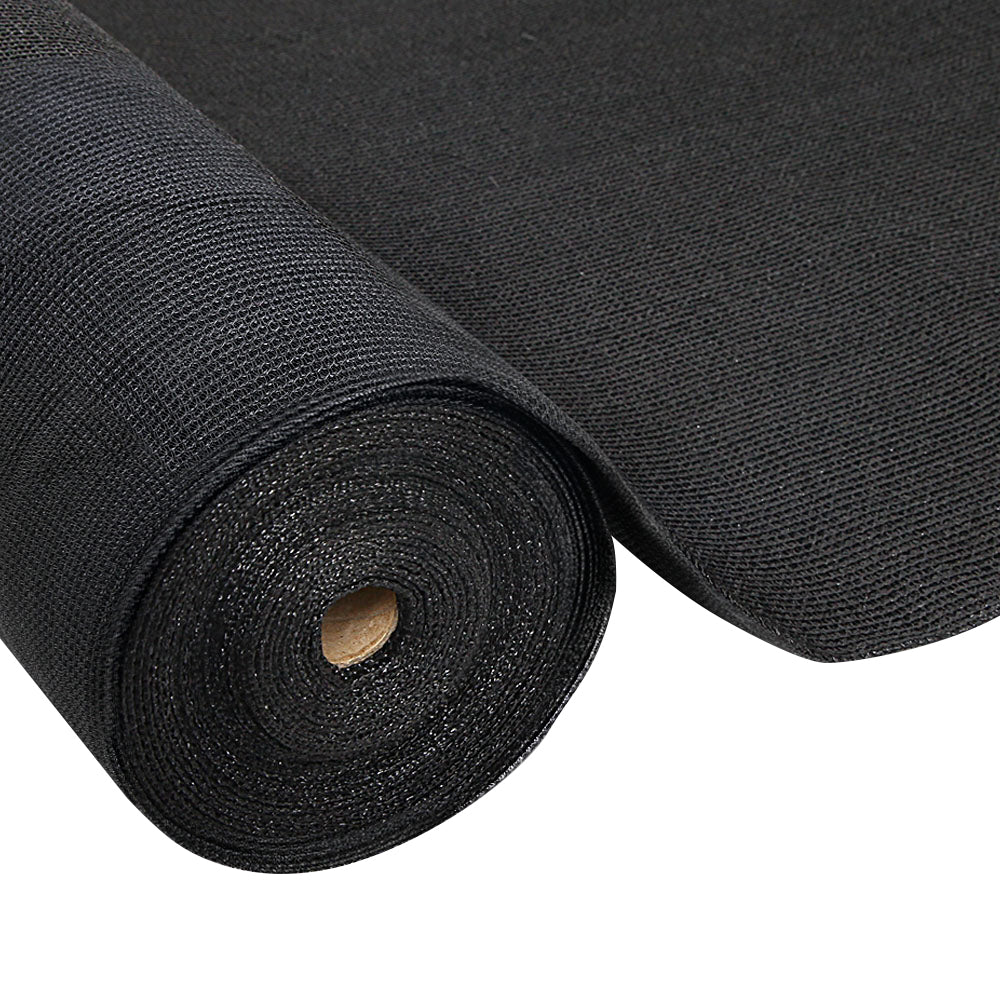 Instahut 3.66x20m 50% UV Shade Cloth Shadecloth Sail Garden Mesh Roll Outdoor Black