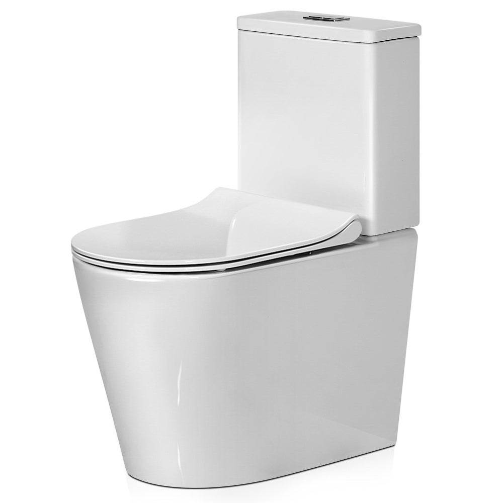 Cefito Toilet Suite Rimless Flush Back to Wall Soft Close Seat Wels Bathroom White