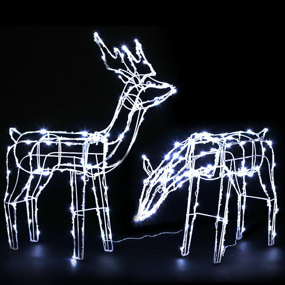 Jingle Jollys Christmas LED Motif Lights Rope Reindeer Waterproof Solar Powered