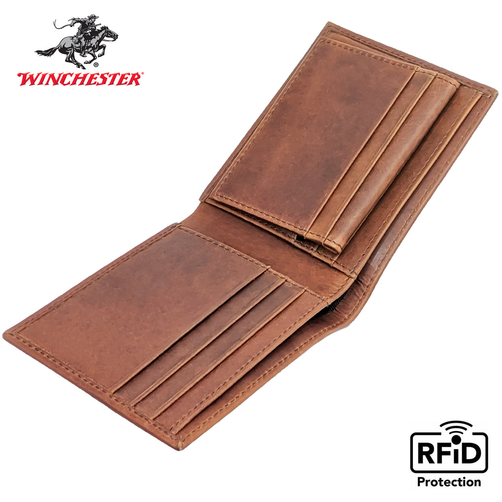 Winchester - Big Dallas Brown Passcase, RFID Men's Wallet - New York Belt Corp