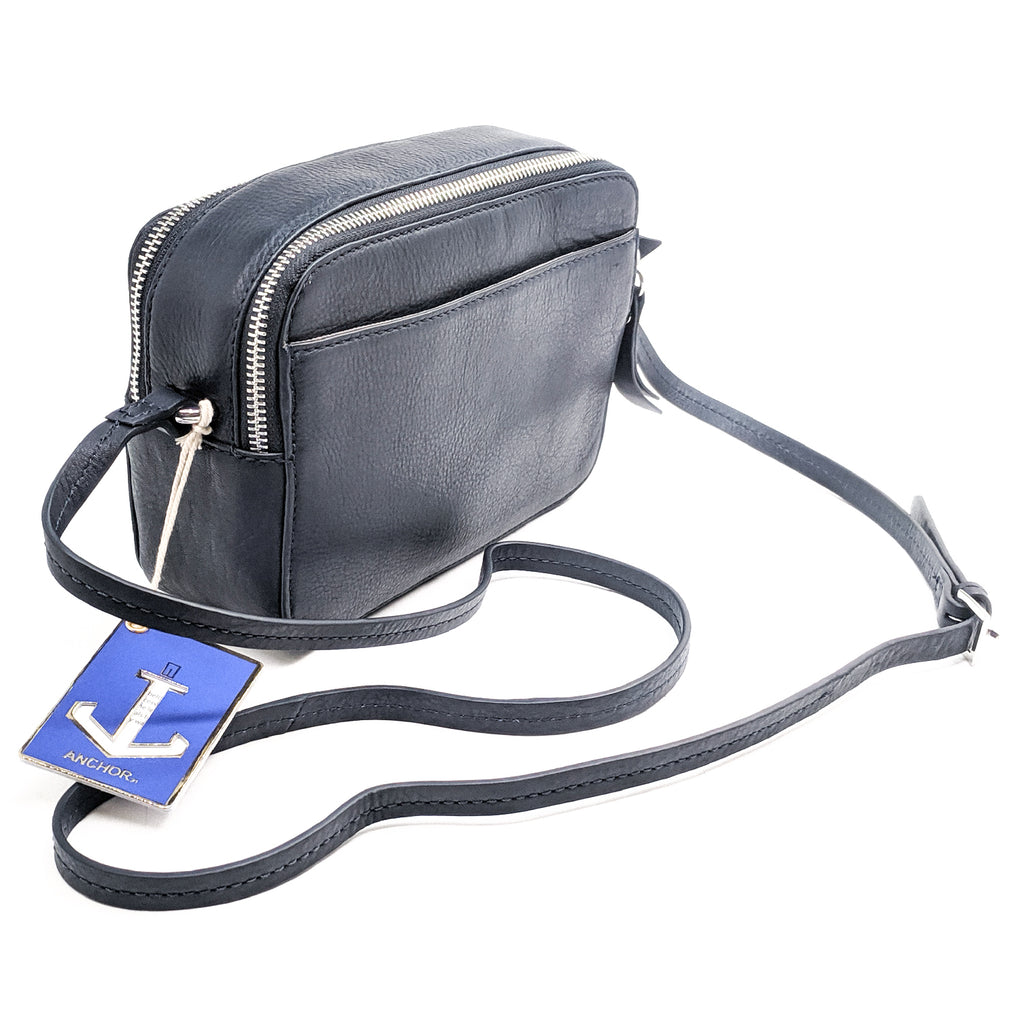 Anchor21 Crossbody Bag for Women Genuine Leather Shoulder Bag with Long Strap - New York Belt Corp