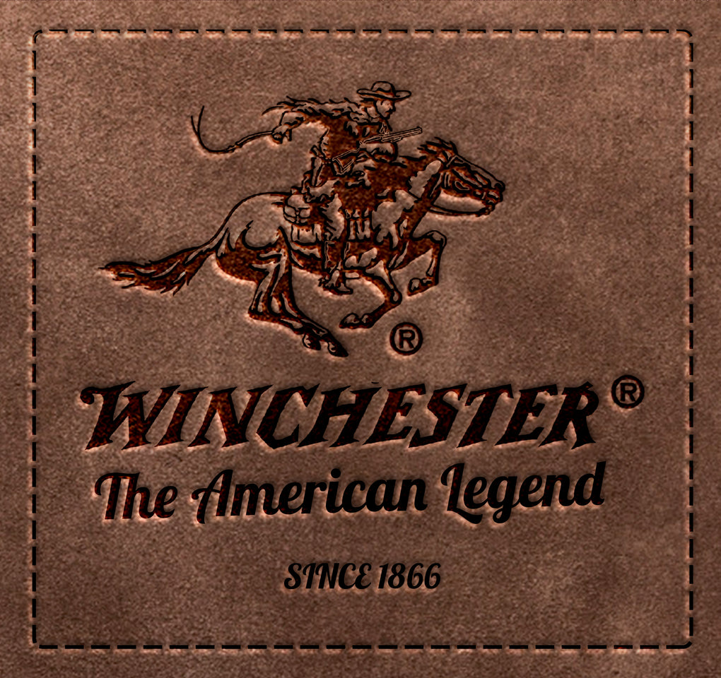Winchester Shiner Men's Belt Genuine Leather with Matte Black Buckle 35 mm width