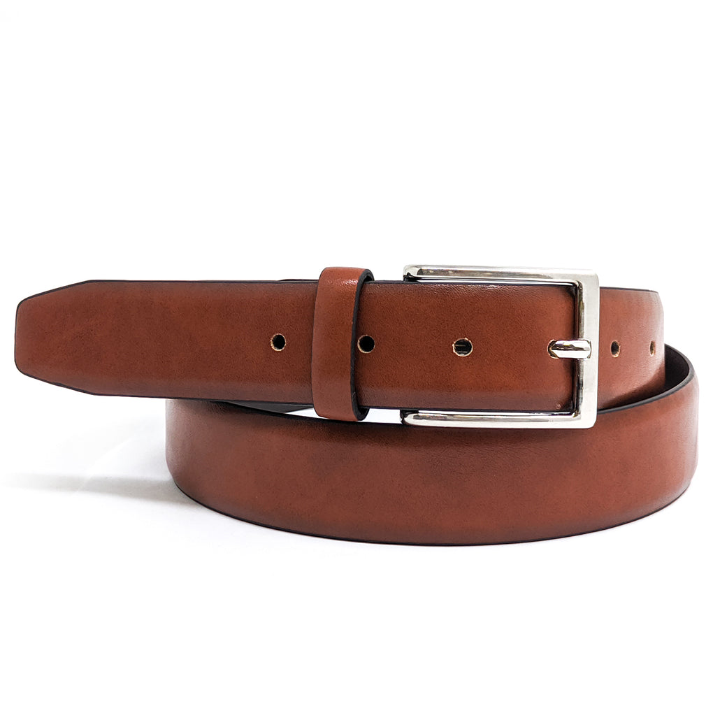 Anchor21 Abeam Mens Belt with Polished Nickel Buckle 7 Holes - New York Belt Corp