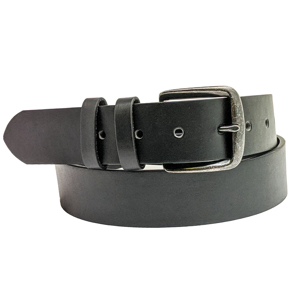Anchor21 Aloft Mens Belt Double Loop Casual Belt, Antique Nickel Buckle - New York Belt Corp