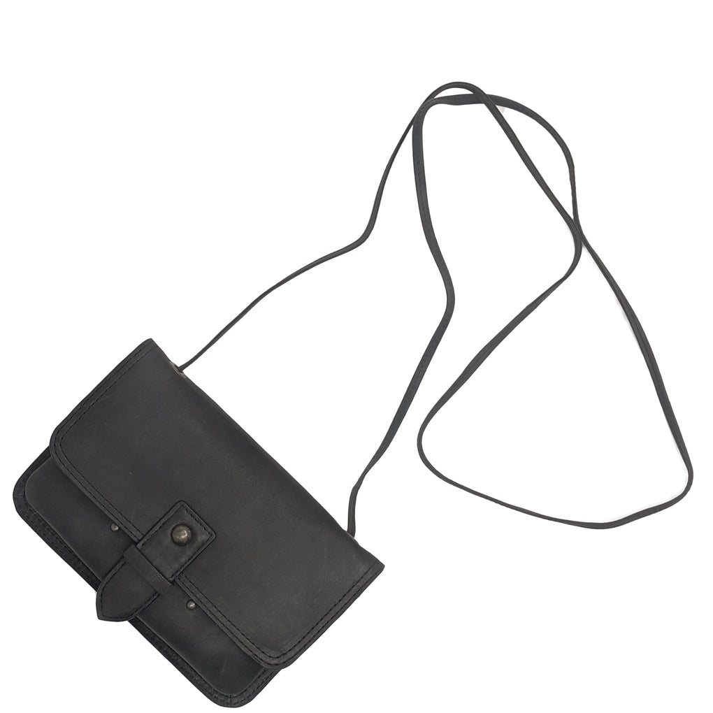 Anchor21 Crossbody Bag and Waist Pouch, Convertible Wallet, Full Grain Genuine Leather - New York Belt Corp