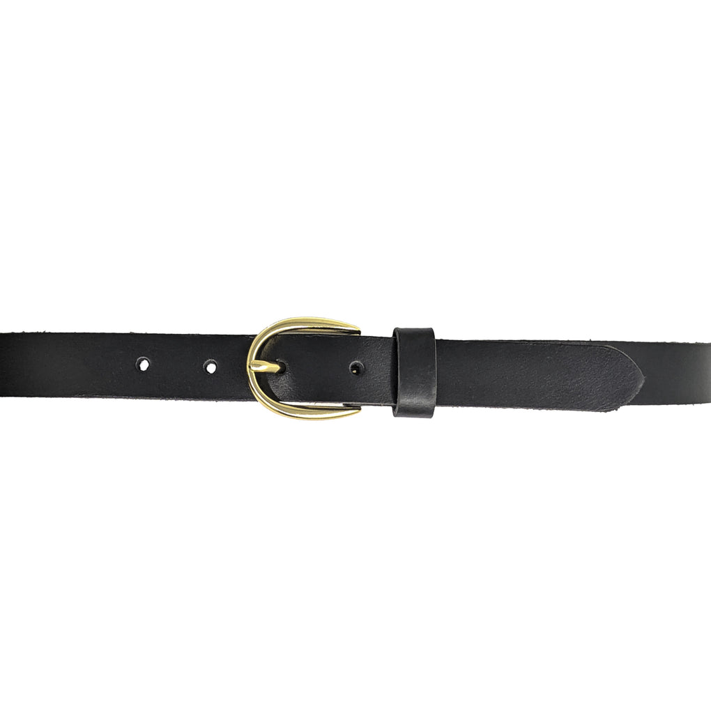 Women's Smooth Leather Belt, Black
