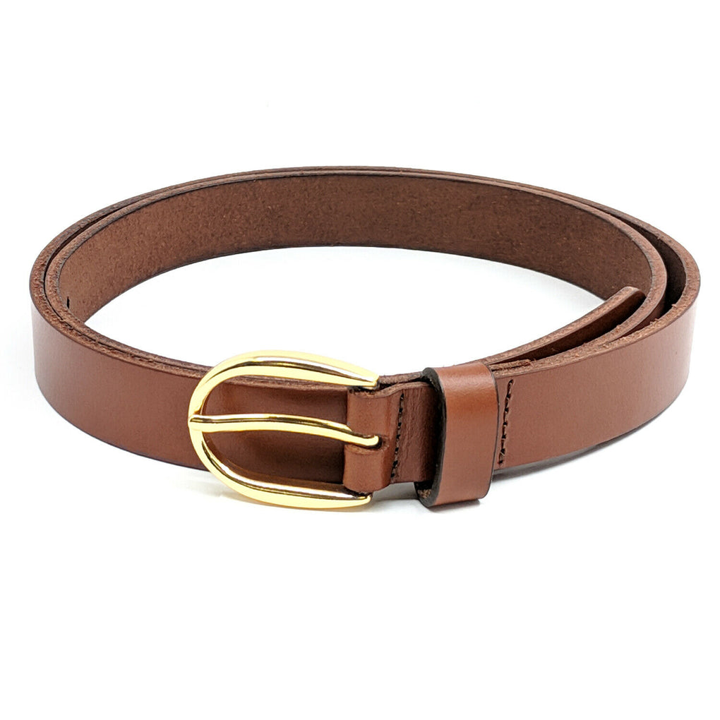 Women's Smooth Leather Belt, Brown