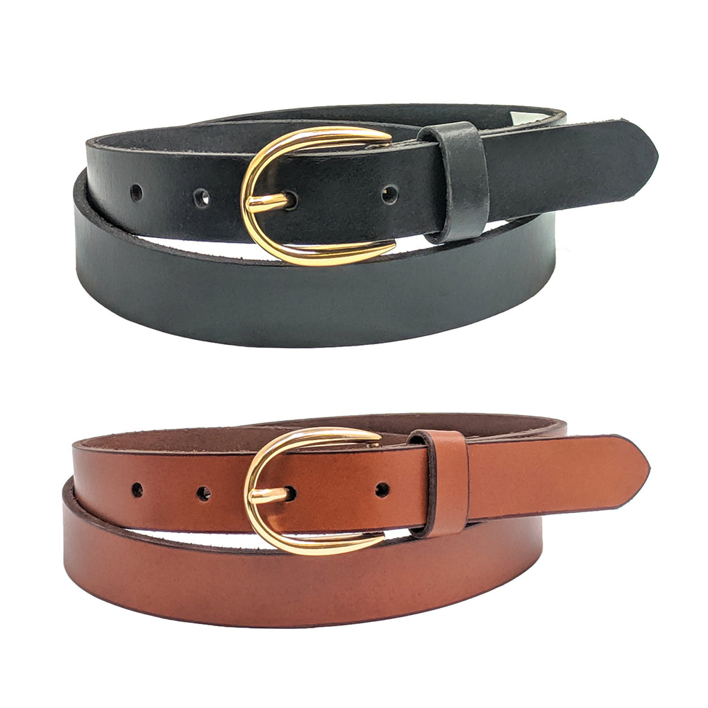 Anchorr21 Genova Thin Womens Belts Cowhide Full Grain Genuine Leather Belts - New York Belt Corp