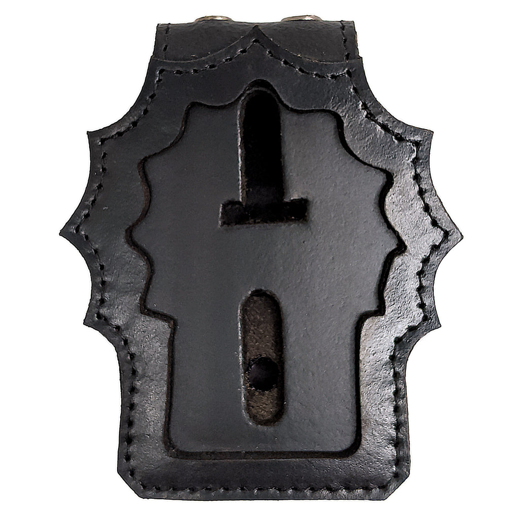 Winchester Police Badge Holder with Chain and Belt Clip, NYPD Detective Badge Shield Holder, Leather