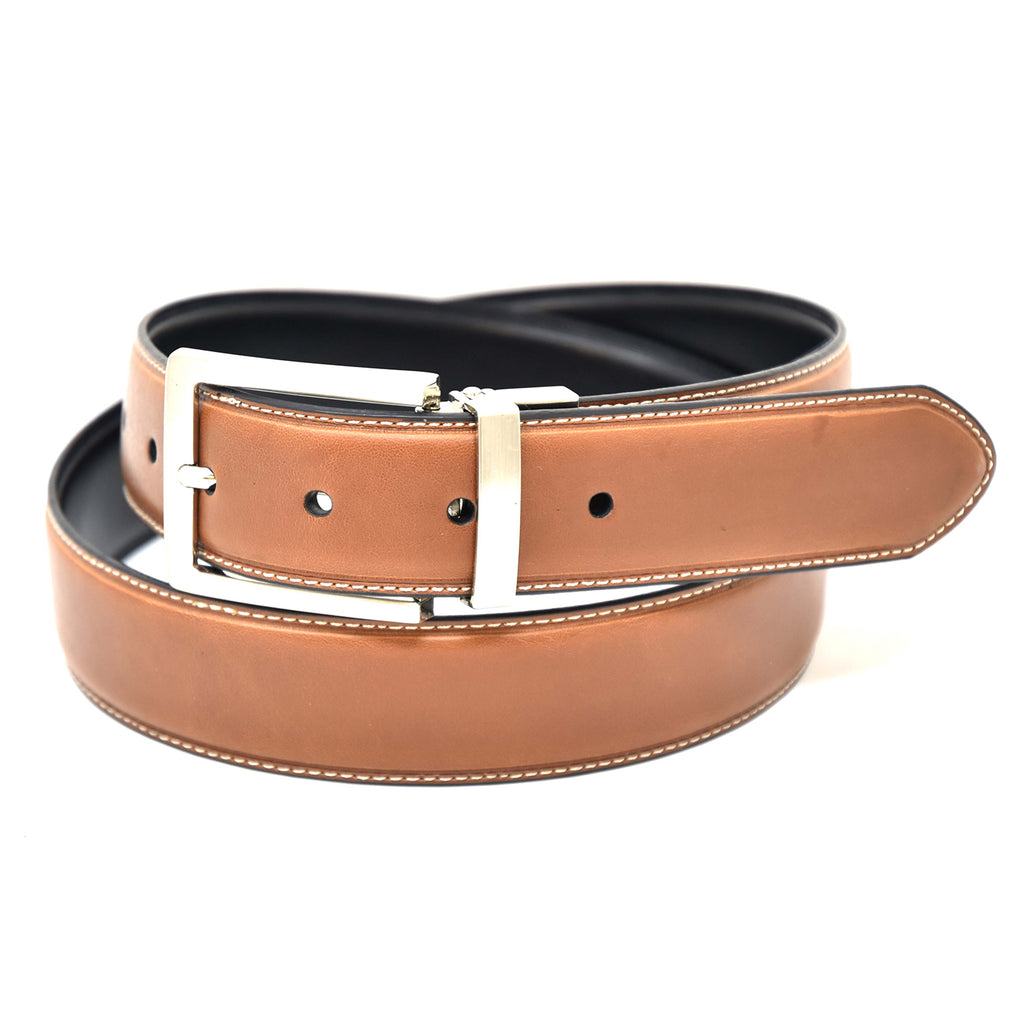 NYBC Alfred Reversible Mens Belt Made in USA Dress Wear - New York Belt Corp