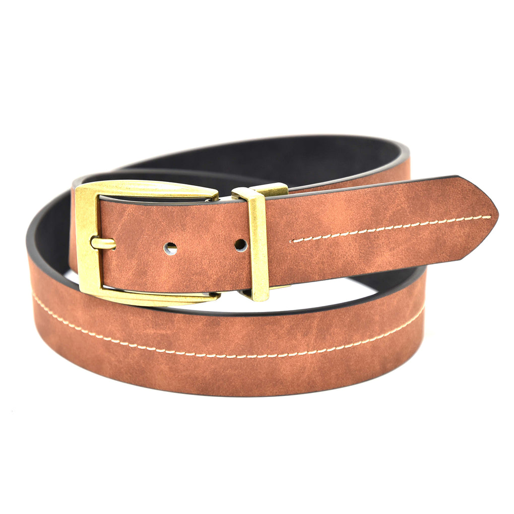 NYBC Ashford Reversible Mens Belt Made in USA Casual Wear - New York Belt Corp