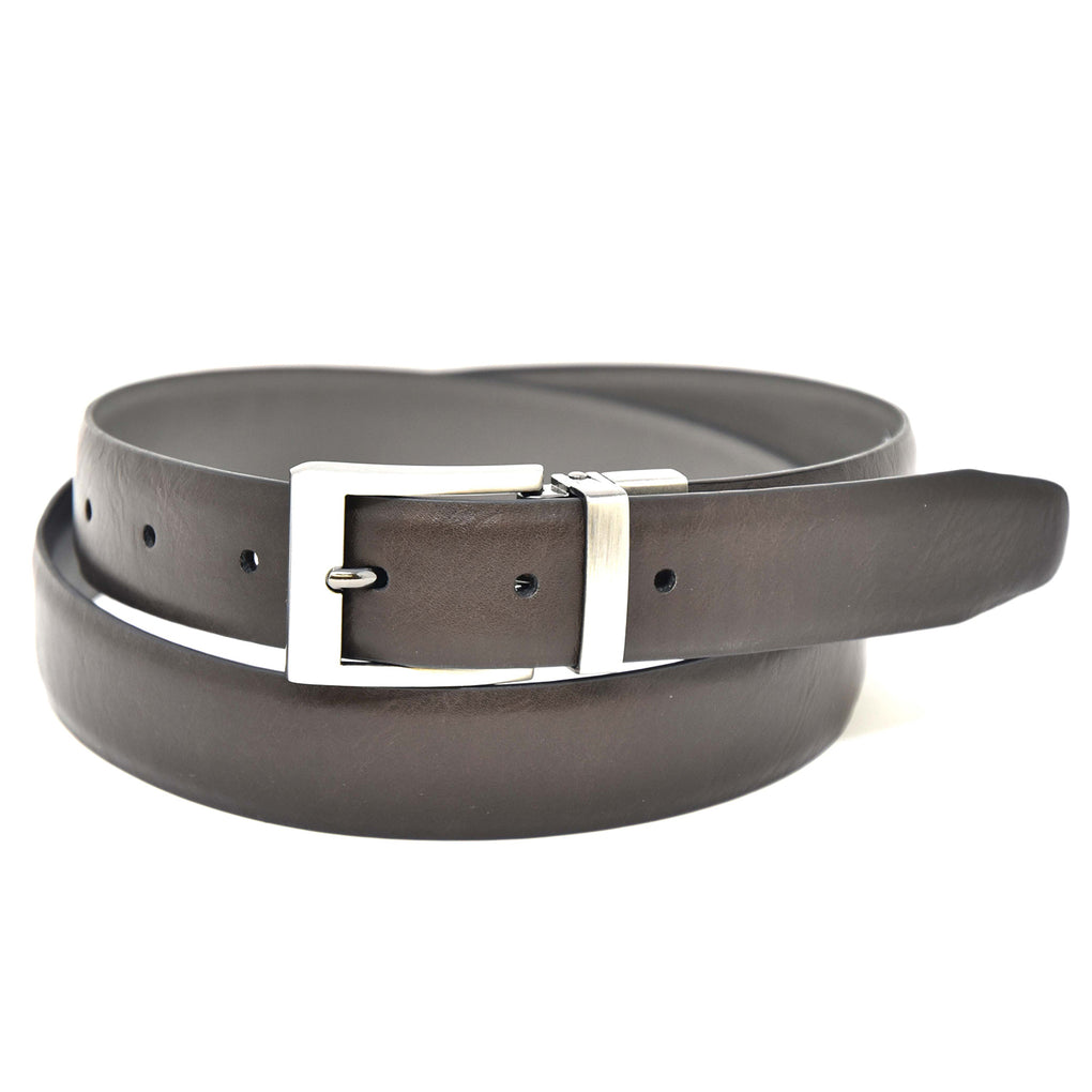NYBC Milton Reversible Mens Belt Made in USA Stretch Fit Dress Wear - New York Belt Corp