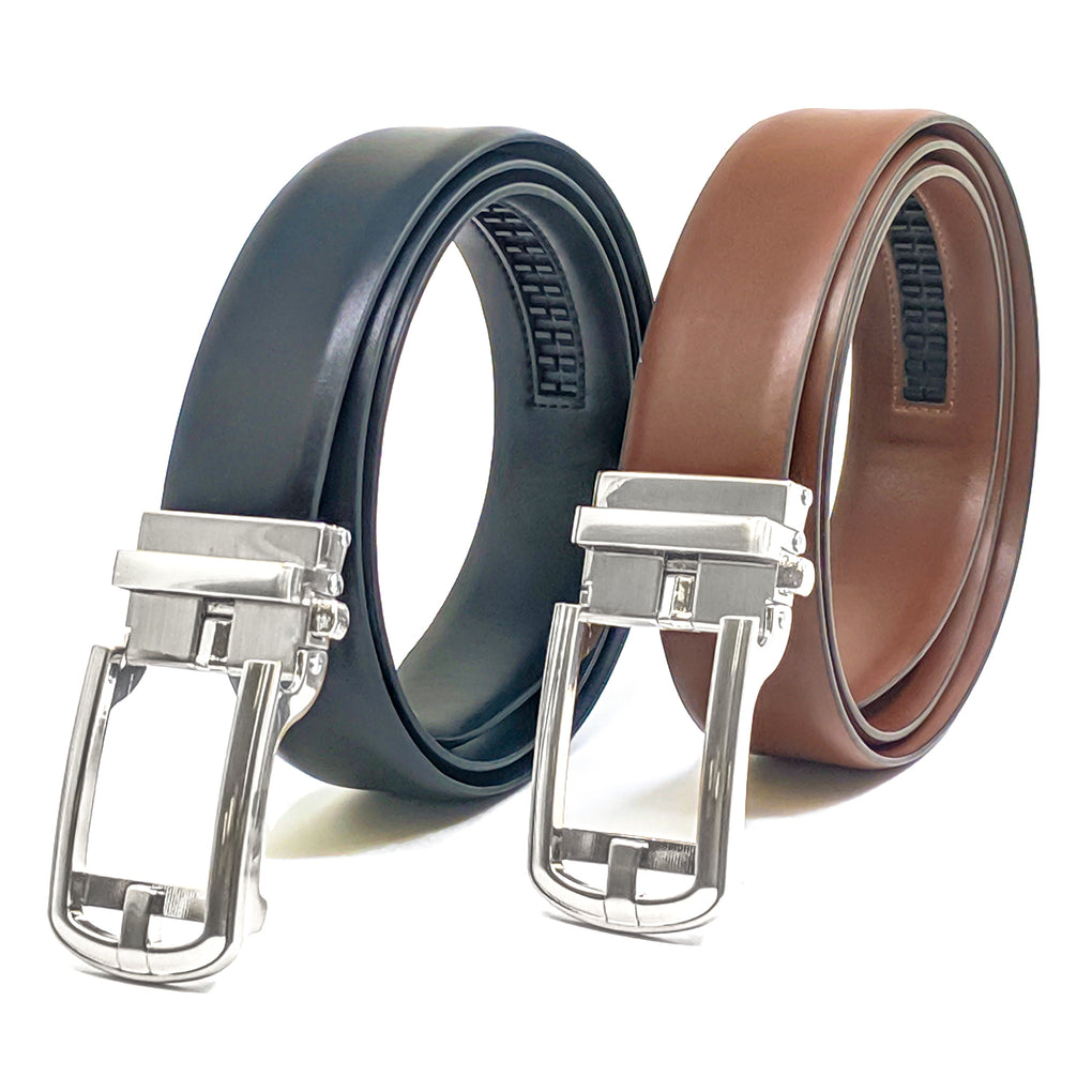 men's belt buckle ratcheting automatic self-locking track line white buckle only