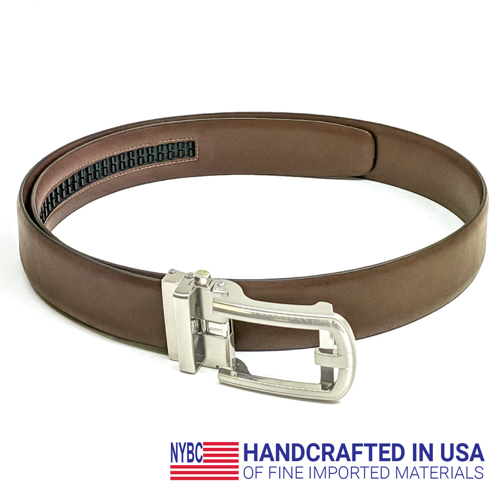 NYBC Afton Ratchet Mens Belt Made in USA Automatic Buckle Comfort Fit - New York Belt Corp