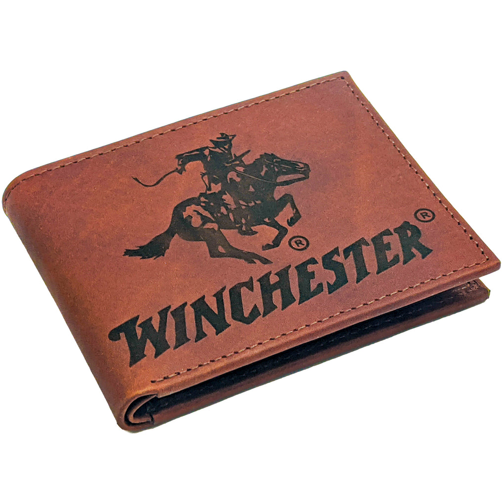 Winchester RFID Men's Wallet, Brown Passcase, Genuine Leather Big Dallas