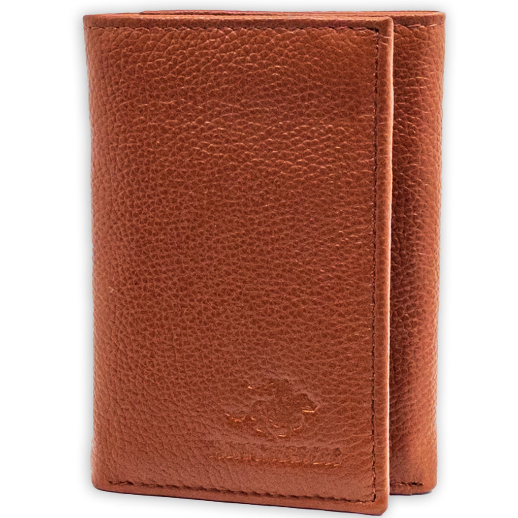 Winchester Men's Trifold Wallet RFID Removable Insert Full Grain Genuine Leather