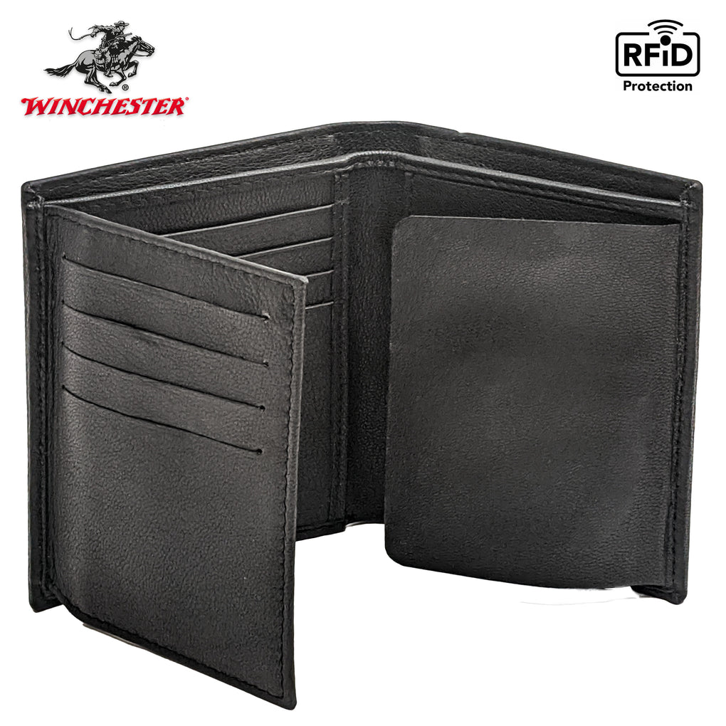 Winchester - Badge Holder Wallet RFID Blocking Full Grain Genuine Leather