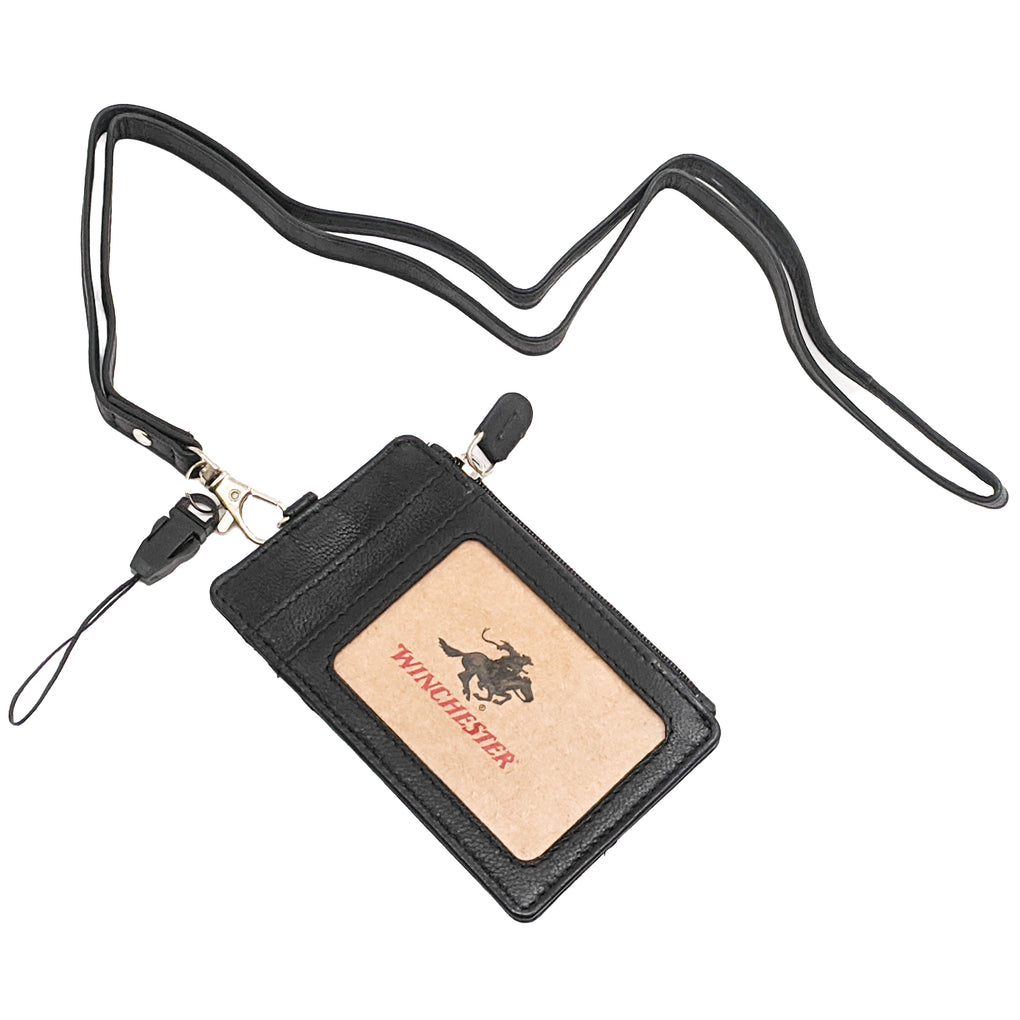 Winchester Wallace Card Holder with Zipper Black