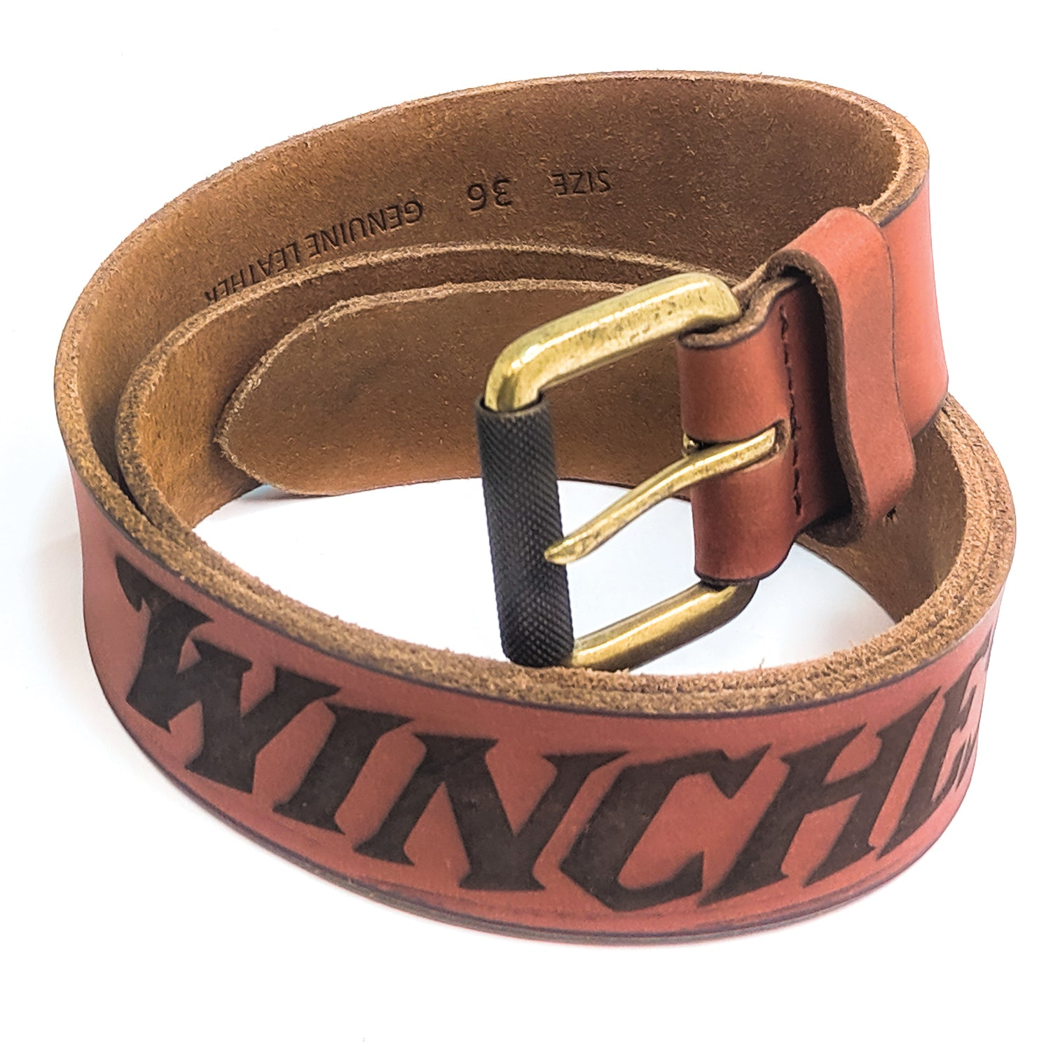 Winchester - Laredo Design Tan Color Belt, Hand Crafted in USA