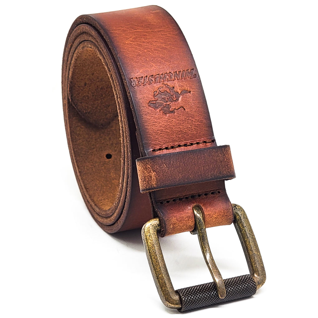 Winchester Tarrant Men's Belt Genuine Leather with Roller Buckle 35 mm width