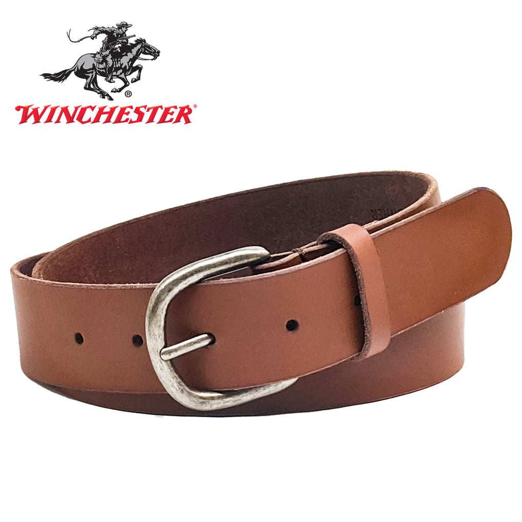 Winchester Genuine Leather Unisex Belt 34 MM Brown L, XL, 2XL, Made in the USA