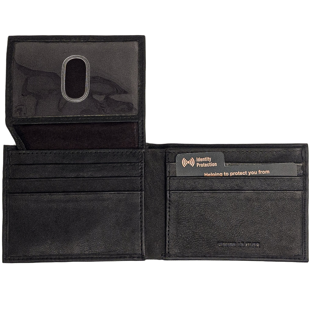 Anchor21 - Passcase Genuine Leather RFID Men's Wallet - New York Belt Corp