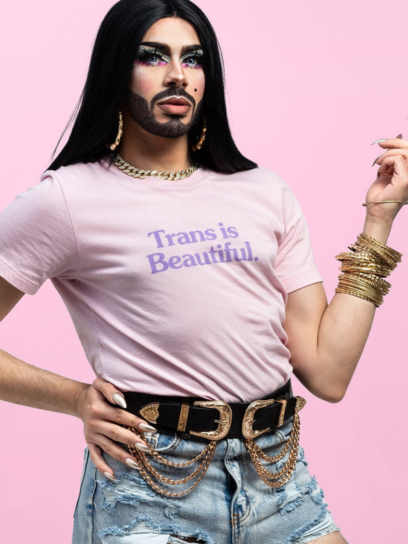 Trans is Beautiful Tee - Alt Pronouns, Inc.